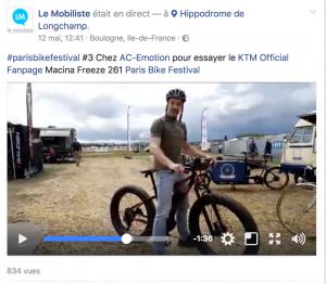 Petit essai filmé du fat bike KTM Macina Freeze 261 par Steven du site Le Mobiliste (© lemobiliste.com)
