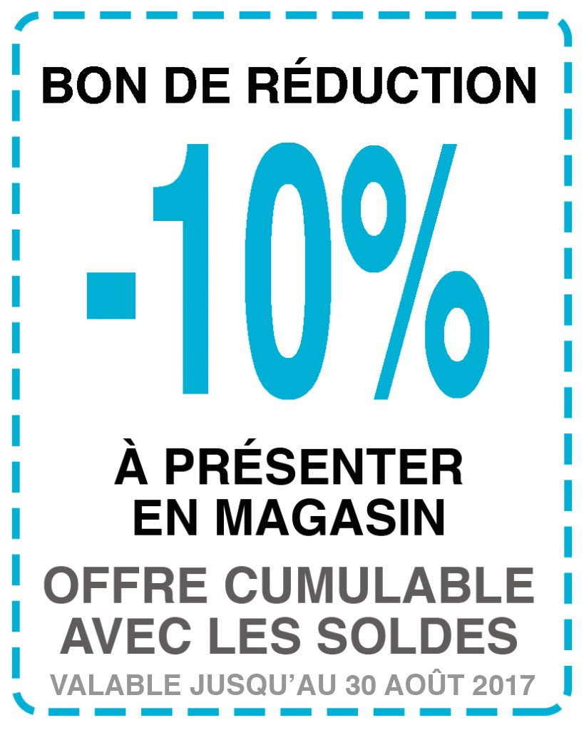 10% DE RÉDUCTION