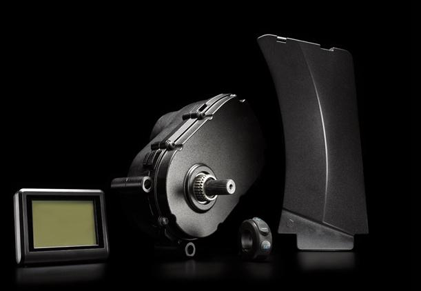 Système moteur-batterie-console Impulse Evo pour vélo électrique.