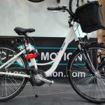 Un vélo électrique protégé par antivol Kryptonite