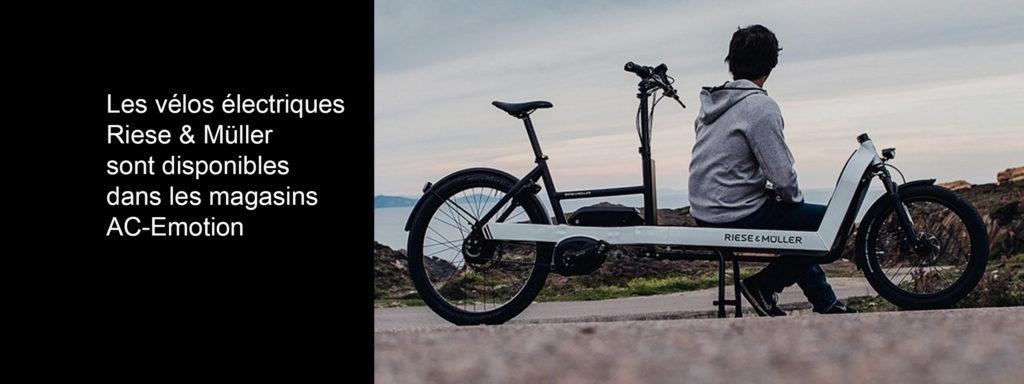 Les vélos électriques Riese & Müller sont disponibles dans les magasins parisiens AC-Emotion