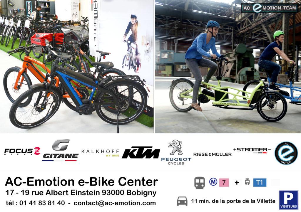 AC-Emotion e-Bike Center : un espace d'exposition avec piste d'essais à 4 kilomètres de Paris-Porte de la Villette