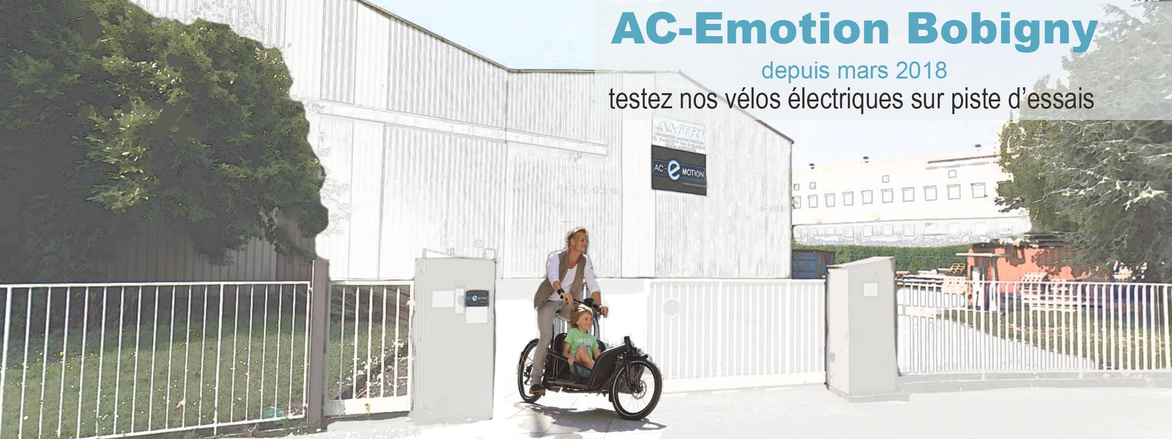 AC-Emotion à Bobigny (93), c'est un nouvel espace d'exposition et une piste d'essais dédiés à la mobilité : vélo électrique et scooter électrique