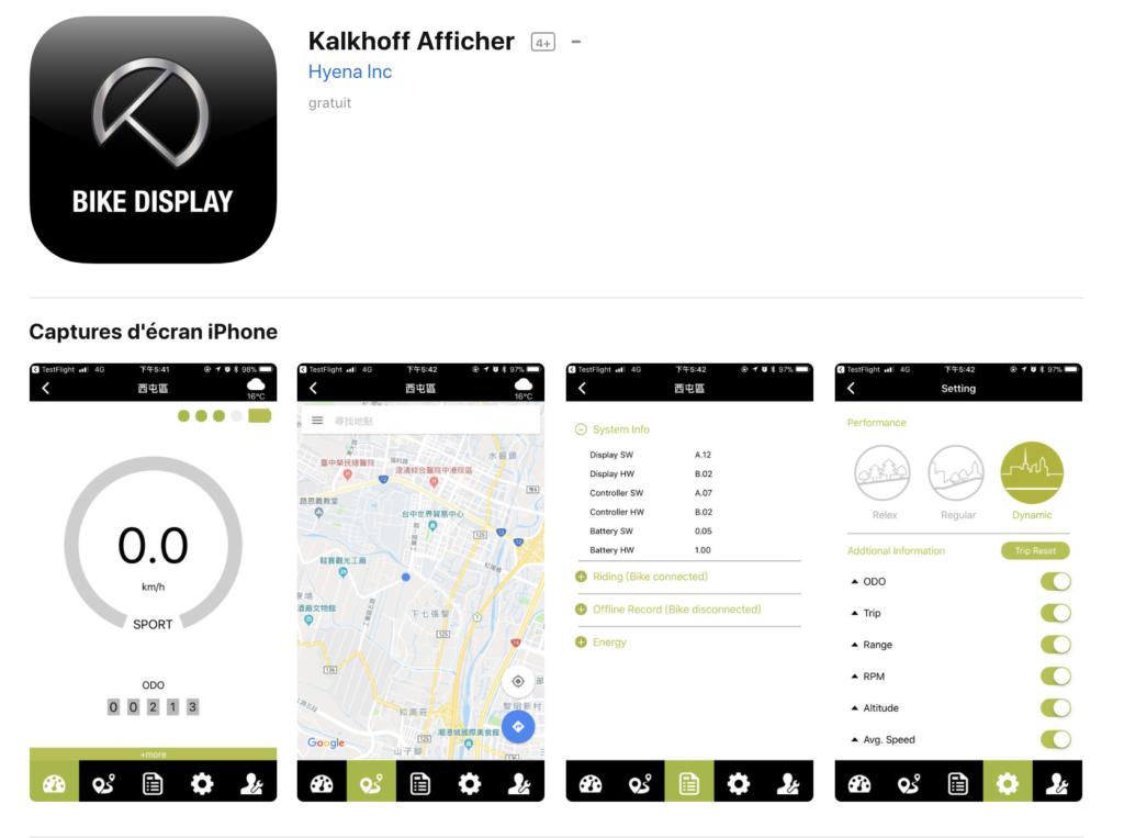 Application Kalkhoff pour le Berleen