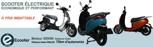scooter électrique AC-Emotion Ecooter : 2690 €, un prix imbattable pour ce deux-roues urbain !