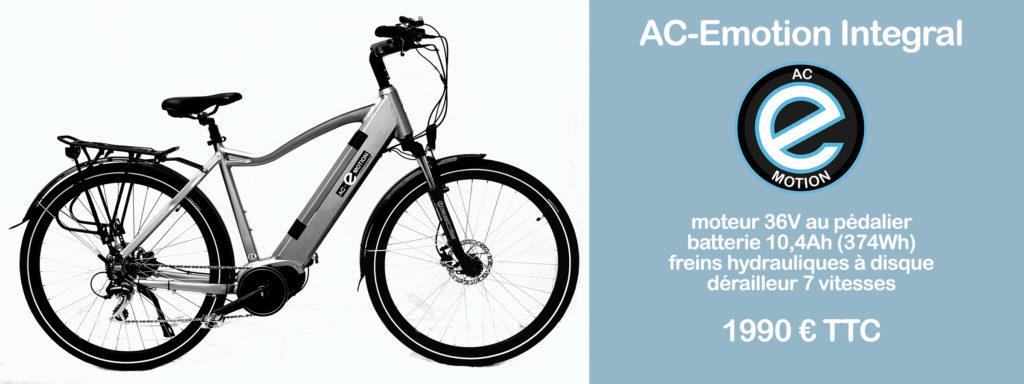 vélo électrique AC-Emotion Integral à moteur Bafang MaxDrive